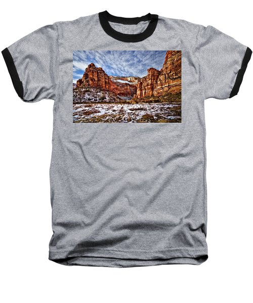 Zion Canyon In Utah Baseball T-Shirt