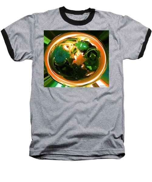 Baseball T-Shirt featuring the photograph Zucchini Flowers Under Glass by George Pedro