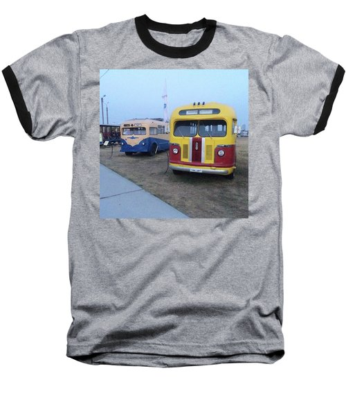 Retro Bus Baseball T-Shirt