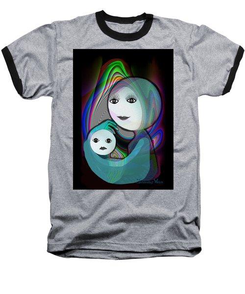 044 - Full Moon  Mother And Child   Baseball T-Shirt