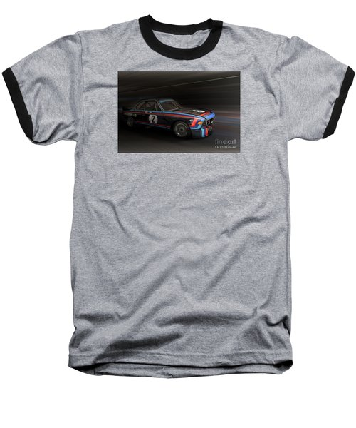 1974  Bmw 3.0 Csl Batmobile Baseball T-Shirt by Roger Lighterness