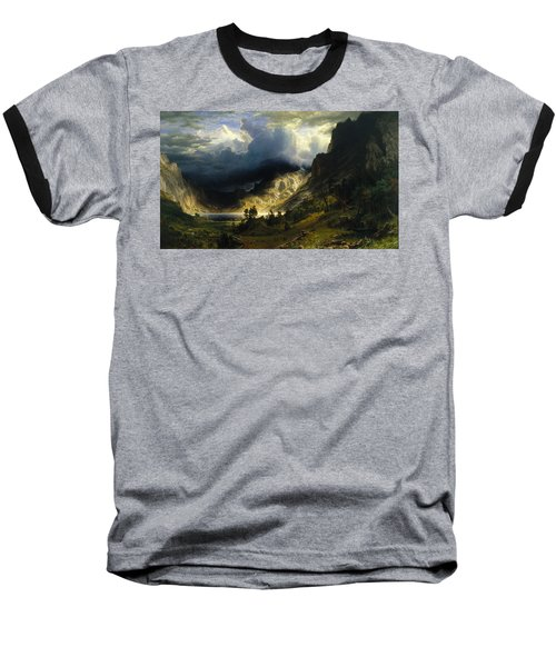 A Storm In The Rocky Mountains Mt. Rosalie Baseball T-Shirt