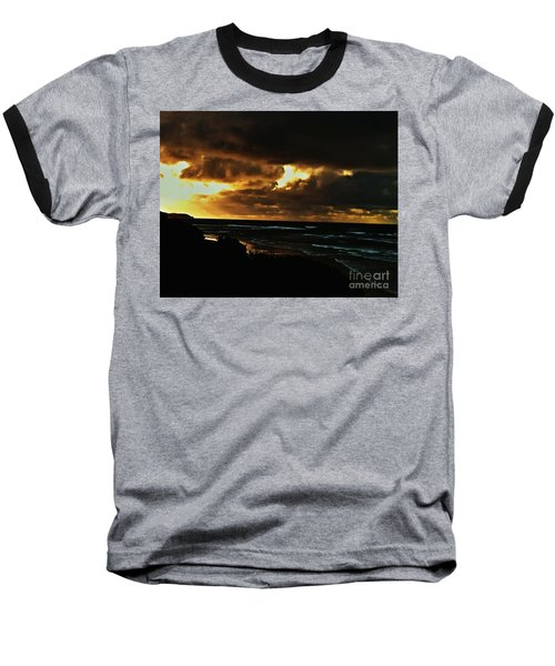 A Stormy Sunrise Baseball T-Shirt