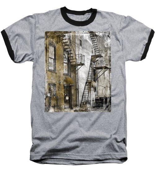 Alleyway In Portland, Me Baseball T-Shirt