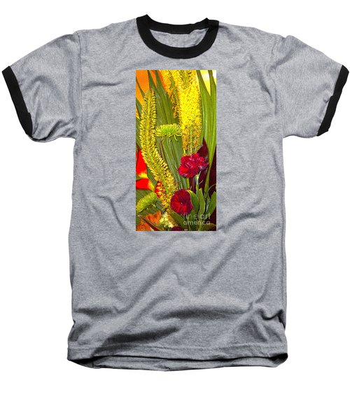 Artistic Floral Arrangement Baseball T-Shirt by Merton Allen