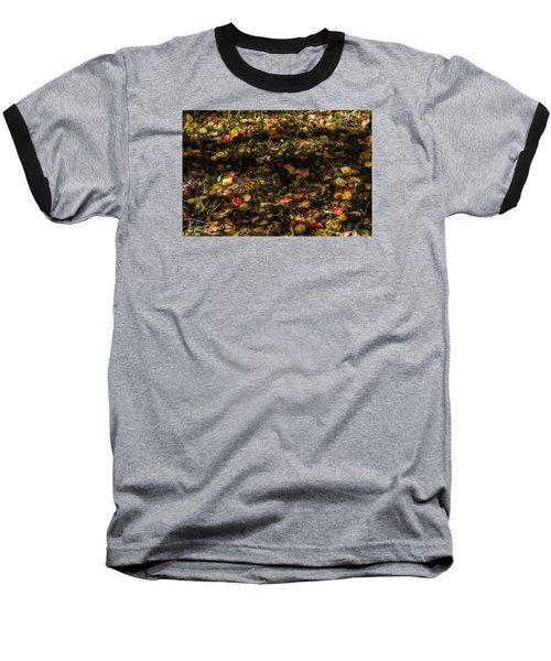 Autumn's Mosaic Baseball T-Shirt by Alana Thrower