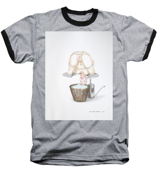 Baseball T-Shirt featuring the mixed media  Behavior Control by TortureLord Art