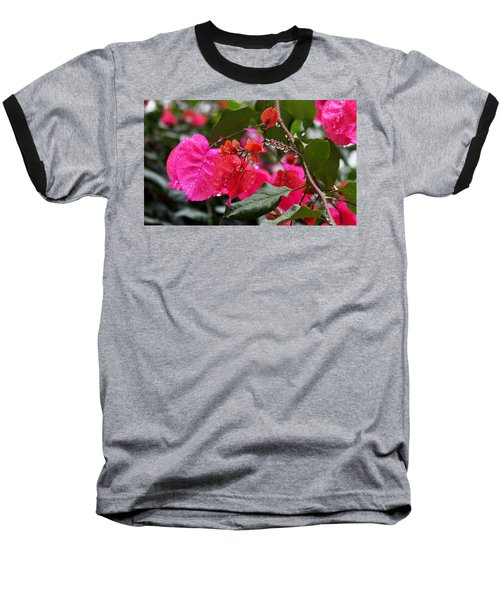 Bougainvillea In The Rain Baseball T-Shirt