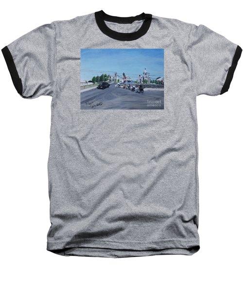 Family Cycling Tour Baseball T-Shirt by Francine Heykoop