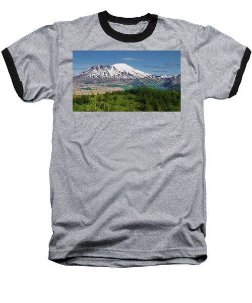 Castle Lake And Mt. St. Helens Baseball T-Shirt