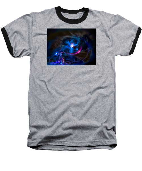 Entrancing The Mystical Moon Baseball T-Shirt by Glenn C Feron