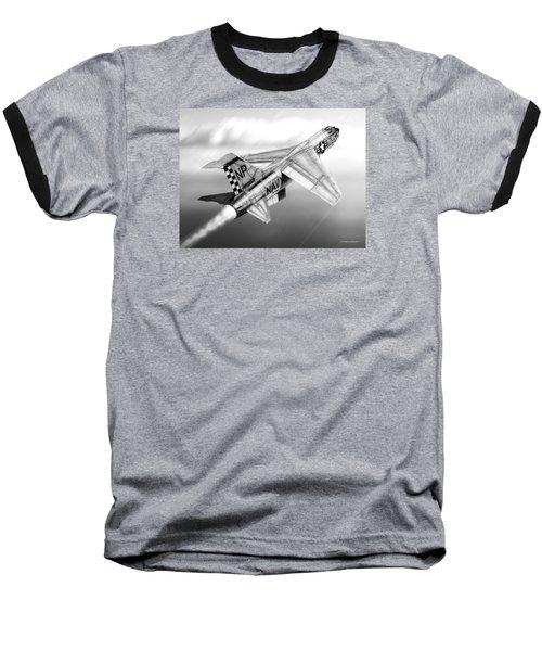 F-8e Crusader Drawing Baseball T-Shirt by Douglas Castleman