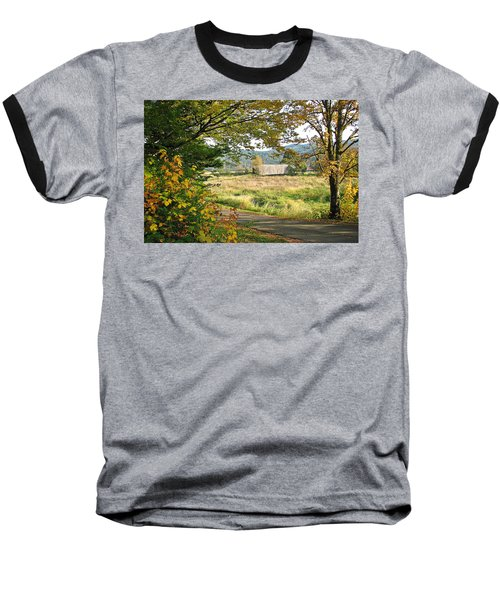 Fall At Grays River Covered Bridge Baseball T-Shirt
