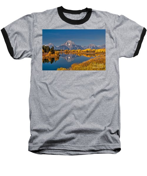 Fall Colors At Oxbow Bend In Grand Teton National Park Baseball T-Shirt by Sam Antonio Photography