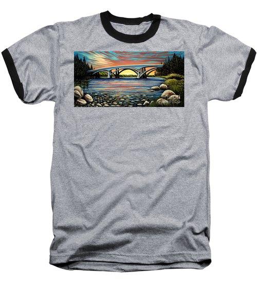 Folsom Bridge Baseball T-Shirt