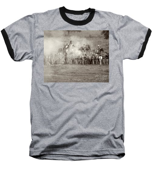 Gettysburg Confederate Infantry 7503s Baseball T-Shirt