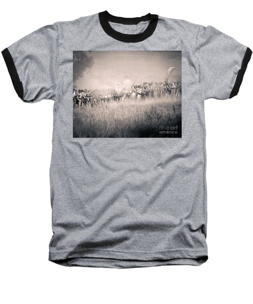 Gettysburg Confederate Infantry 9112s Baseball T-Shirt