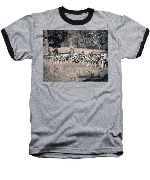Gettysburg Confederate Infantry 9270s Baseball T-Shirt