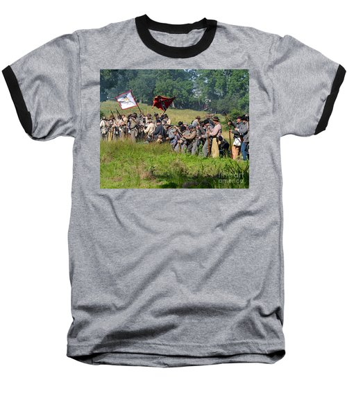 Gettysburg Confederate Infantry 9281c Baseball T-Shirt