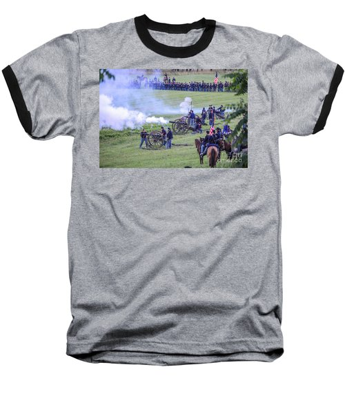 Gettysburg Union Artillery And Infantry 7439c Baseball T-Shirt