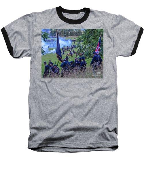 Gettysburg Union Artillery And Infantry 7459c Baseball T-Shirt