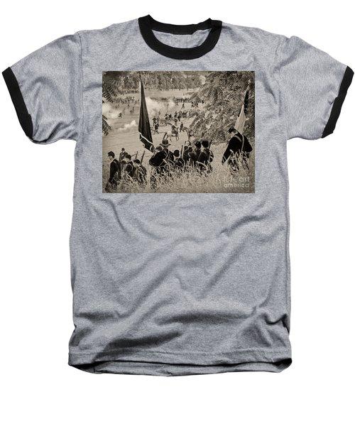 Gettysburg Union Artillery And Infantry 7459s Baseball T-Shirt