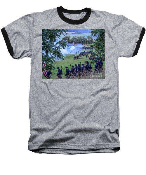 Gettysburg Union Artillery And Infantry 7465c Baseball T-Shirt