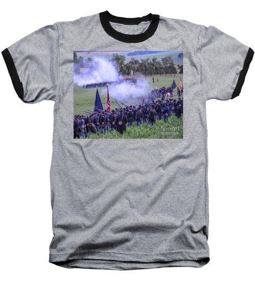 Gettysburg Union Artillery And Infantry 7496c Baseball T-Shirt