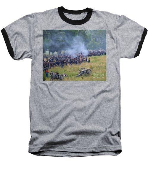 Gettysburg Union Artillery And Infantry 8456c Baseball T-Shirt