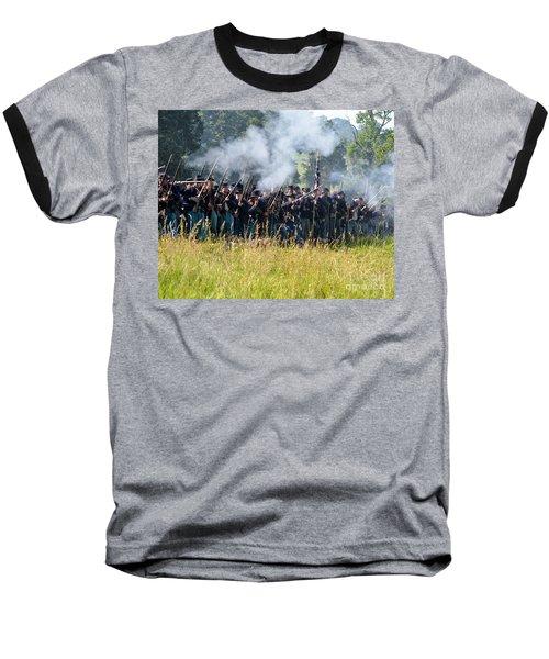 Gettysburg Union Infantry 9360c Baseball T-Shirt