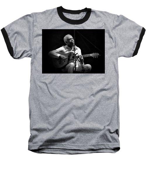 Gilberto Gil   Black And White Baseball T-Shirt