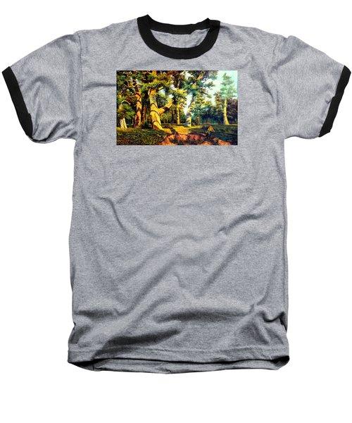 Green Summer-the Oak Forest Baseball T-Shirt by Henryk Gorecki