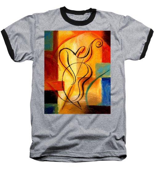 Jazz Fusion Baseball T-Shirt by Leon Zernitsky