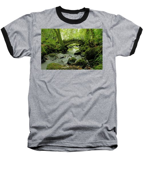 Kilfane Glen  Baseball T-Shirt by Martina Fagan