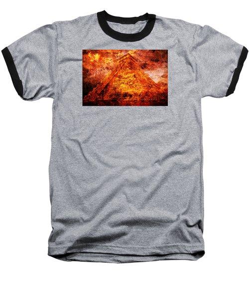 Kukulcan Pyramid Baseball T-Shirt by J- J- Espinoza