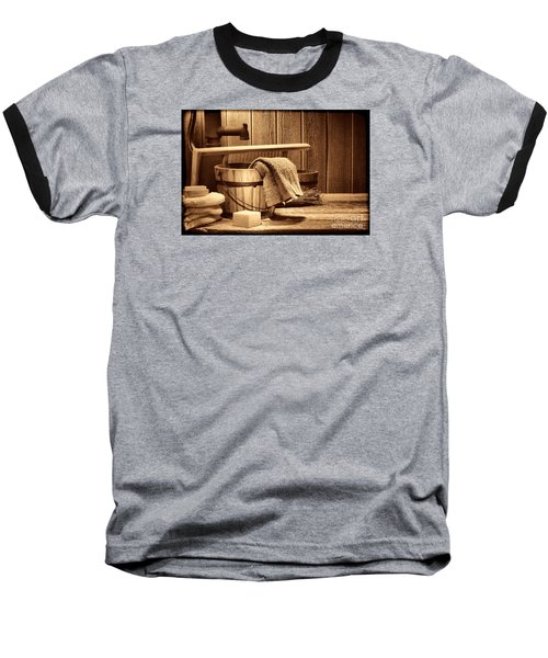 Laundry At The Ranch Baseball T-Shirt by American West Legend By Olivier Le Queinec