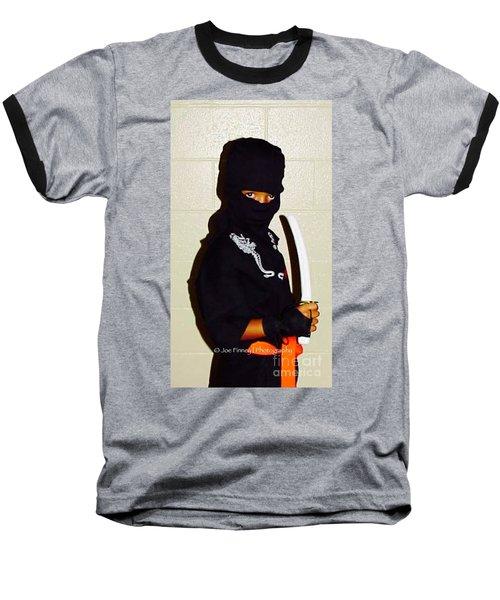 Baseball T-Shirt featuring the photograph  Little Ninja - No.1998 by Joe Finney