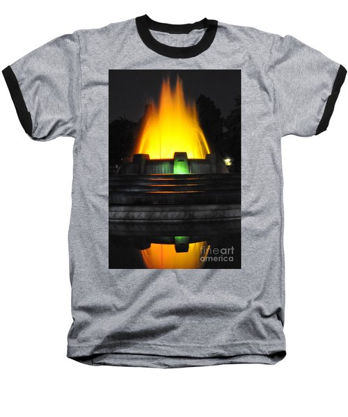 Mulholland Fountain Reflection Baseball T-Shirt