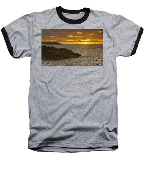 Ninini Point Lighthouse Sunrise Baseball T-Shirt