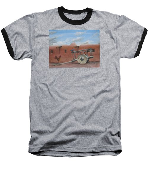 Baseball T-Shirt featuring the painting  Old Spanish Cart  by Oz Freedgood