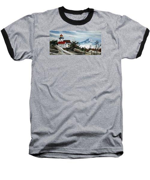 Point Robinson Lighthouse And Mt. Rainier Baseball T-Shirt