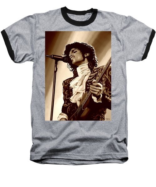Prince The Artist Baseball T-Shirt by Paul Meijering