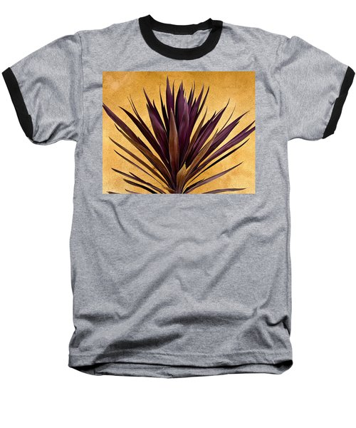 Purple Giant Dracaena Santa Fe Baseball T-Shirt by John Hansen