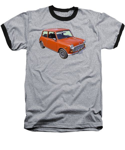Red Mini Cooper Baseball T-Shirt by Keith Webber Jr