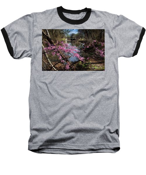 Redbuds And A Distant Bridge Baseball T-Shirt