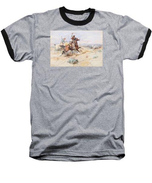 Roping A White Wolf  Baseball T-Shirt