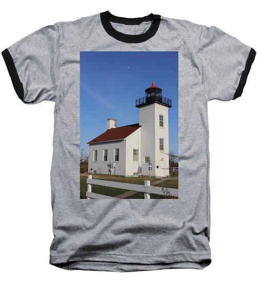 Sand Point Lighthouse Escanaba Baseball T-Shirt