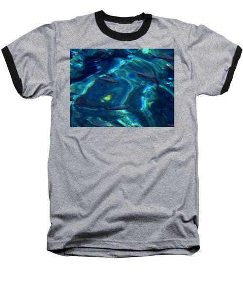 Baseball T-Shirt featuring the photograph  Santorini  Ocean Water Reflections Greece by Colette V Hera  Guggenheim