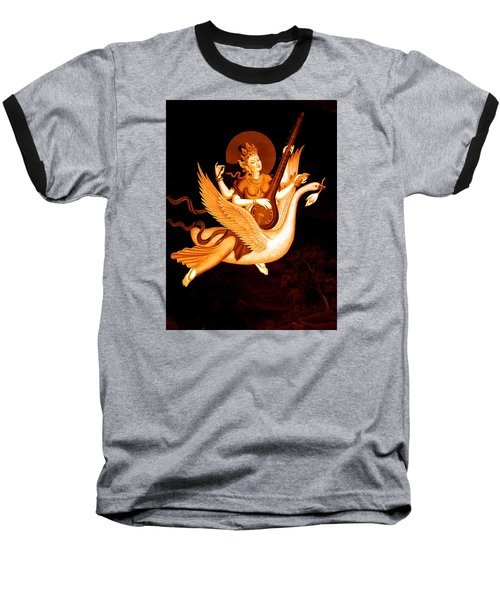 Saraswati 4 Baseball T-Shirt by Lanjee Chee