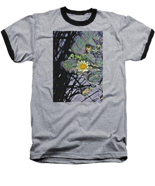 September White Water Lily Baseball T-Shirt by Janis Nussbaum Senungetuk